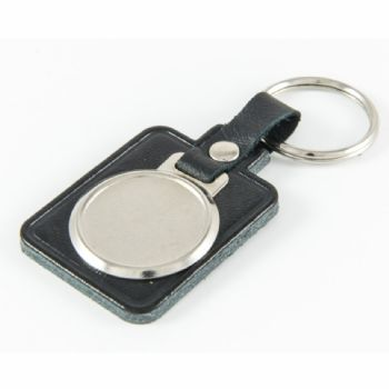 Keyfob Blank Rectangle 25mm and clear dome